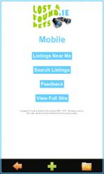 Mobile Site Home Screen